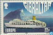 Briefmarken - Gibraltar - Europa – Transport und Kommunikation