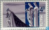 Postage Stamps - Malta - The Three Magi