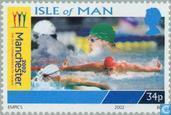 Postzegels - Man - Commonwealth Games