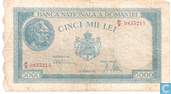Banknotes - Romania - 1943-1947 Issue - Romania 5,000 Lei 1945