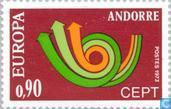 Postage Stamps - Andorra - French - Europe – Post Horn