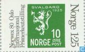 Postzegels - Noorwegen - 125 grijs/groen