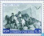 Briefmarken - San Marino - Flug Garibaldi
