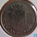 "Monnaies - Pays-Bas - Pays Bas 1 gulden 1980 ""Investiture of New Queen"""