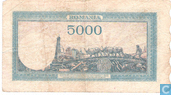 Billets de banque - Roumanie - 1943-1947 Issue - Roumanie 5.000 Lei 1945