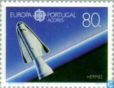 Postzegels - Azoren - Europa – Ruimtevaart