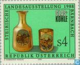 "Postage Stamps - Austria [AUT] - Exhibition ""Glas und Kohle"""