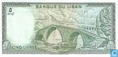 Bankbiljetten - Banque du Liban - Libanon 5 Livres 1964