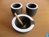 Céramique - Ravelli - Ravelli asbak en sigarettenhouders