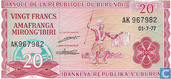 Burundi 20 Francs 1977