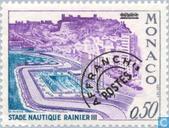 Timbres-poste - Monaco - Rainier II Stade de natation
