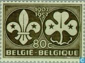 Postage Stamps - Belgium [BEL] - Scouting 50 years
