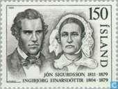 Postzegels - IJsland - Sigurdsson, Jón 1811-1879