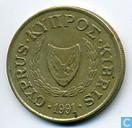 Monnaies - Chypre - Chypre 10 cents 1991