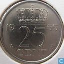 Coins - the Netherlands - Netherlands 25 cents 1955