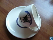 Ceramics - Cup and saucer - Kop en schotels