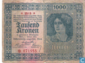 Banknotes - Austria - 1922 First Issue - Austria 1,000 Kronen 1922