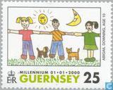 Timbres-poste - Guernesey - Du Millénaire pour le