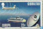 Postzegels - Gibraltar - Europa – Transport en communicatie