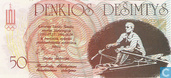 Bankbiljetten - Sportwedstrijden 27 juli - 4 augustus 1991 - Litouwen 50 litaurµ