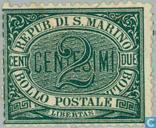 Briefmarken - San Marino - Ziffer