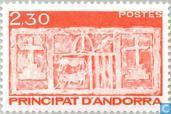 Timbres-poste - Andorre - Poste française - Arms