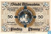 Banknotes - Allenstein - Serie A - Allenstein Stadt 50 Pfennig