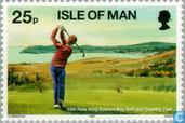 Briefmarken - Man - Golf