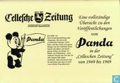 """Bandes dessinées - Panda - Eine vollständige Übersicht zu den Veröffentlichungen von Panda in der """"Celleschen Zeitung"""" von 1949 bis 1969"""