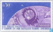 Postzegels - Andorra - Frans - Eerste satelliet televisie koppeling