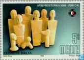 Postage Stamps - Malta - Prehistoric Art-Treasures