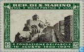 Postzegels - San Marino - Fascistische partij