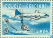 Postage Stamps - Belgium [BEL] - Parachute jumping