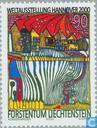 Postage Stamps - Liechtenstein - World Fair, Hannover