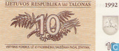 Lithuania 10 Talonas