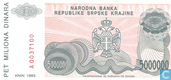 Billets de banque - Srpska Krajina - 1993 Issue - Srpska Krajina 5 Millions Dinara 1993