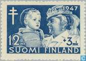 Postzegels - Finland - 1200+300 blauw