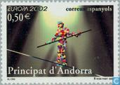 Postage Stamps - Andorra - Spanish - Europe – The Circus