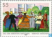 Timbres-poste - Nations unies - Vienne - Journée des Nations Unies
