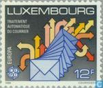 Timbres-poste - Luxembourg - Europe – Transports et communications