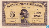 Bankbiljetten - Banque de L´Afrique Occidentale - Frans West Afrika 5 Francs