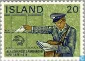 Postzegels - IJsland - 100 jaar UPU