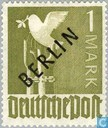 Postage Stamps - Berlin - Black print