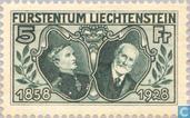 Timbres-poste - Liechtenstein - Prince Johann II Jubilé 70 années