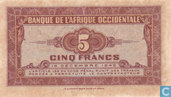 Banknotes - Banque de L´Afrique Occidentale - French West Africa 5 Francs