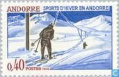Postage Stamps - Andorra - French - Winter sports
