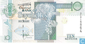 Billets de banque - Central Bank of Seychelles - Seychelles 10 roupies (P36a)