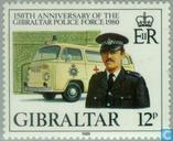 Postzegels - Gibraltar - Politie 1830-1980