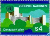 Postage Stamps - United Nations - Vienna - Flags, symbols and buildings