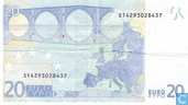 Banknotes - Eurozone - 2002 Dated 'Signature J.C. Trichet' Issue - Eurozone 20 Euro S-J-T